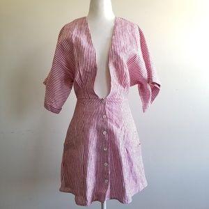 Reformation Dresses - Reformation NWOT Cecilia Linen Dress